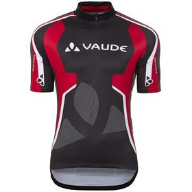 VAUDE Team Miehet Pyöräilypaita lyhythihainen , punainen/musta